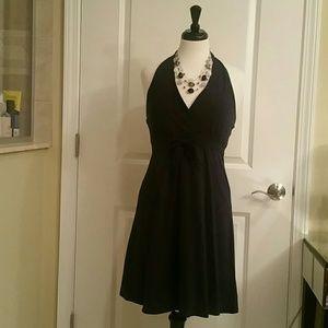 Venus NWOT Navy Halter Dress